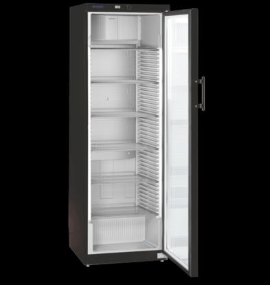 liebheer Vitrine Réfrigérée | Noir  | Porte en verre | 388 litres | 600x610x (H)1800mm