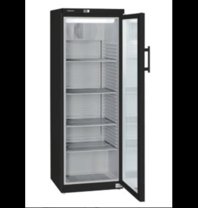 liebheer Vitrine Réfrigérateur | Noir | Porte en verre | 348 litres | FKv 3643 Blackline | 600x610x (H) 1640mm