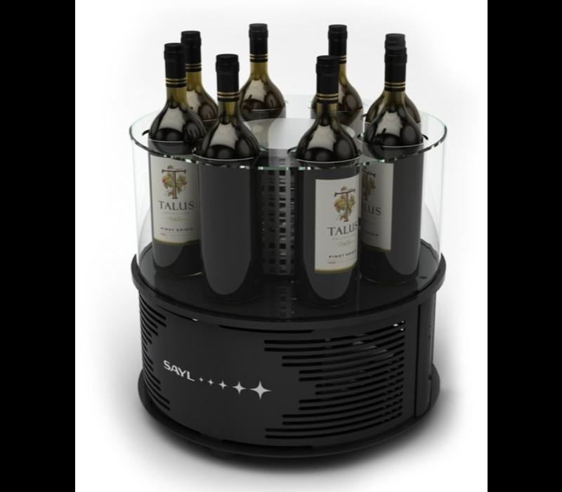 SAYL Rafraîchisseur de Vin Alegria   Convient pour 8 Bouteilles de 90mm   435x435x(H)370mm   Disponible en 2 Modèles