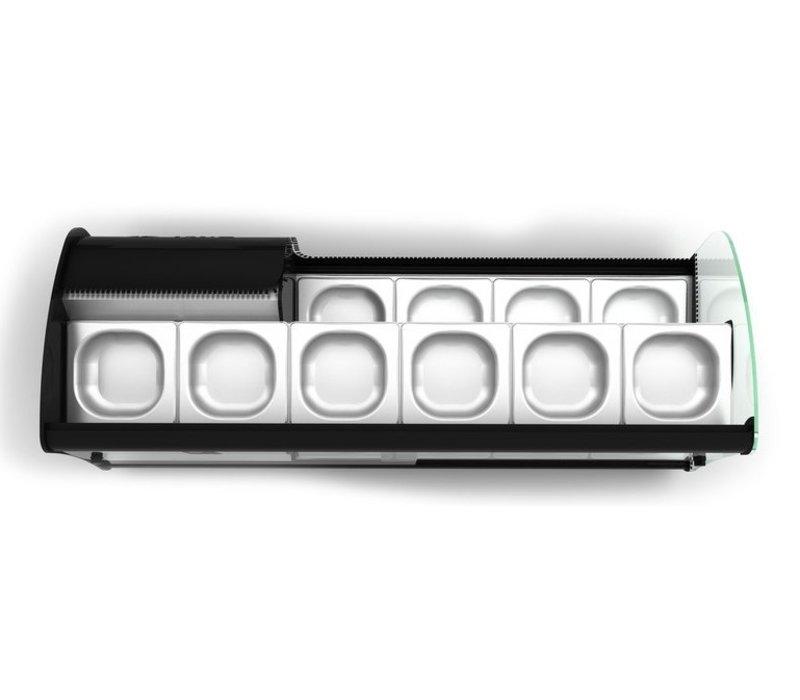 SAYL Vitrine Réfrigérée Double pour Tapas | 2 Etages | Convient pour Bacs de Profondeur 40mm | Disponible en 2 Tailles