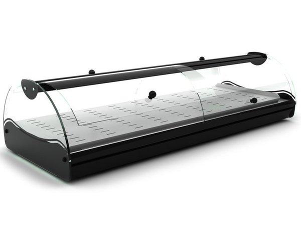 SAYL Vitrine Chauffante Libre Service   Convient pour GN 1/3 40mm   Eclairage LED   Disponible en 2 Tailles