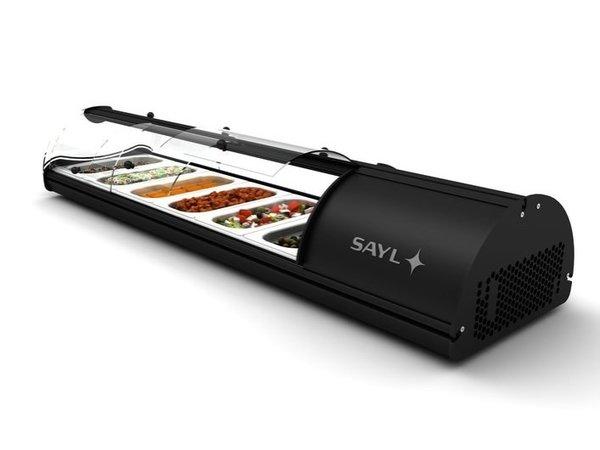 SAYL Vitrine à Tapas Libre Service   Convient pour GN 1/3 40mm   Eclairage LED   Disponible en 4 Tailles