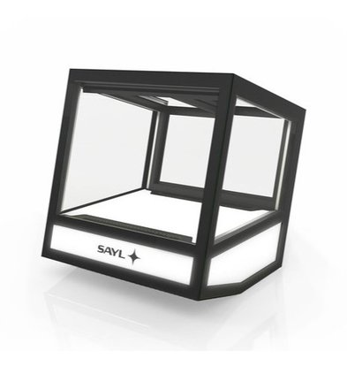 SAYL Vitrine Réfrigérée Cube | Convient pour 20 Bouteilles | 620x670x670mm | Disponible en 3 Modèles