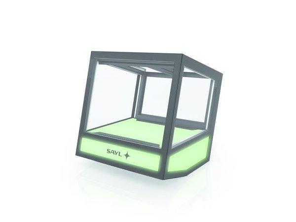 SAYL Vitrine Réfrigérée Cube   Convient pour 20 Bouteilles   620x670x670mm   Disponible en 3 Modèles