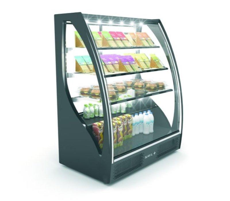 SAYL Vitrine Réfrigérée de Présentation Incurvée | Ouverture à l'Arrière | 1015x620x(H)1240mm