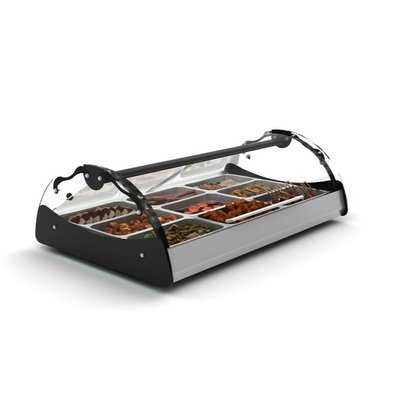 SAYL Vitrine Chauffante Maxiself | Eclairage LED | Convient pour 2x GN 1/1 65mm | Libre Service | 1020x650x320mm
