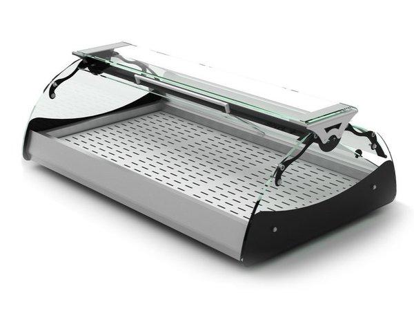 SAYL Vitrine Chauffante Maxiself | Eclairage LED | Convient pour Plateaux en Inox | Libre Service | 690x650x320mm