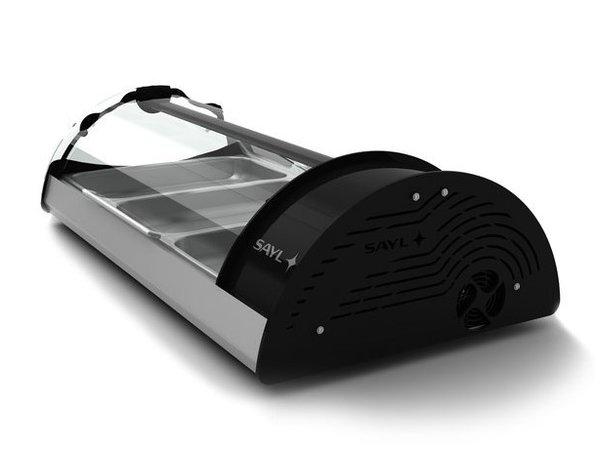 SAYL Vitrine Réfrigérée Maxiself | Eclairage LED | Convient pour 3x GN 1/1 65mm | Libre Service | 1210x650x320mm