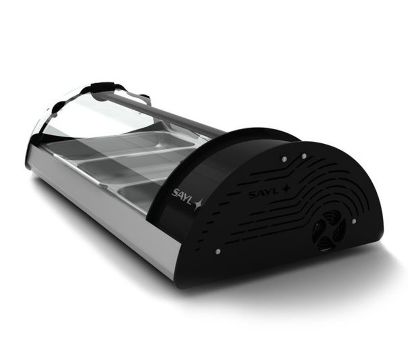 SAYL Vitrine Réfrigérée Maxiself   Eclairage LED   Convient pour 3x GN 1/1 65mm   Libre Service   1210x650x320mm