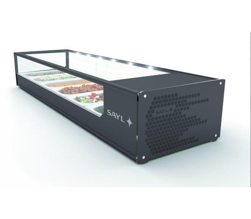 SAYL Vitrine à Tapas Réfrigérée Logic | Eclairage LED | Convient pour GN  1/3 40mm | Disponible en 2 Tailles