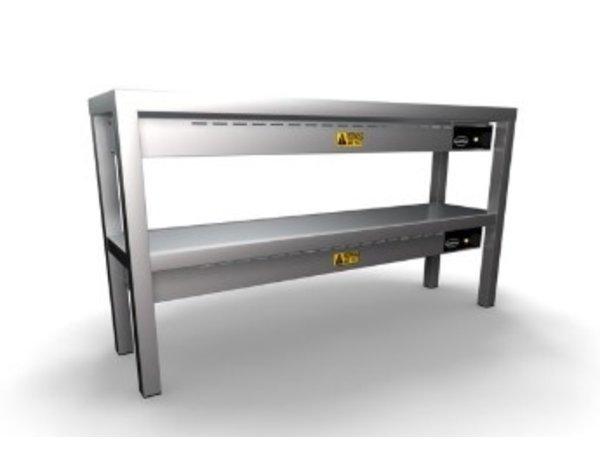 Combisteel Étagère Chauffante | En Céramique | 2 Niveaux |1000x300x(h)650mm | Disponible en 6 Largeurs