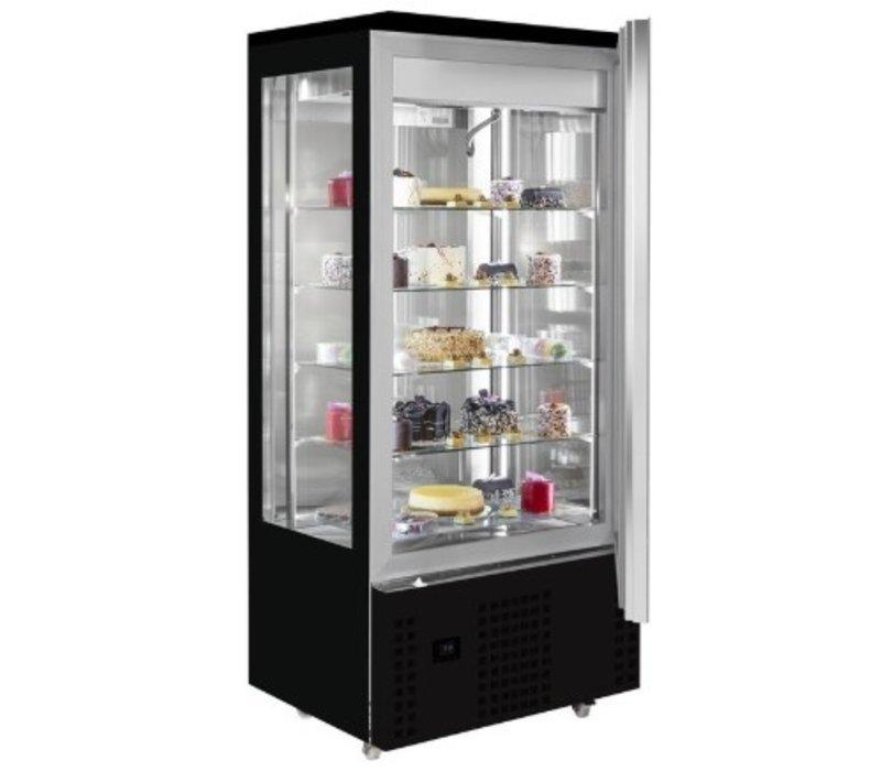 Combisteel Vitrine à Patisserie Réfrigérée | Pour Chocolat | Noire  | 400 Litres | 800x660x(H)1870mm