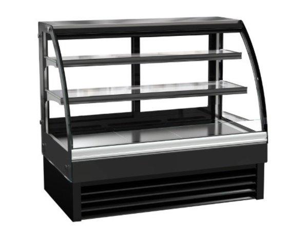 Combisteel Vitrine Réfrigérée | Vitrine Courbée | Modèle Noir| 236 Litres | 1200x680x(H)1200mm