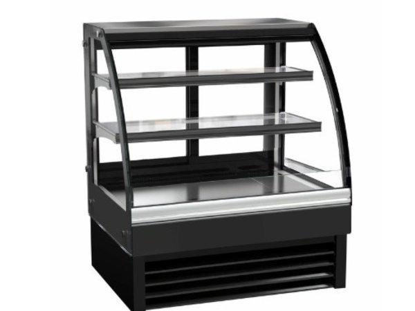 Combisteel Vitrine Réfrigérée | Vitrine Courbée | Modèle Noir| 175 Litres | 900x680x(H)1200mm