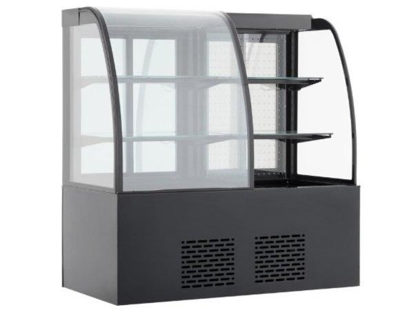 Combisteel Vitrine Réfrigérée |Modèle de Table | Noire | 345+300 Litres | 1415x730x(H)1490mm