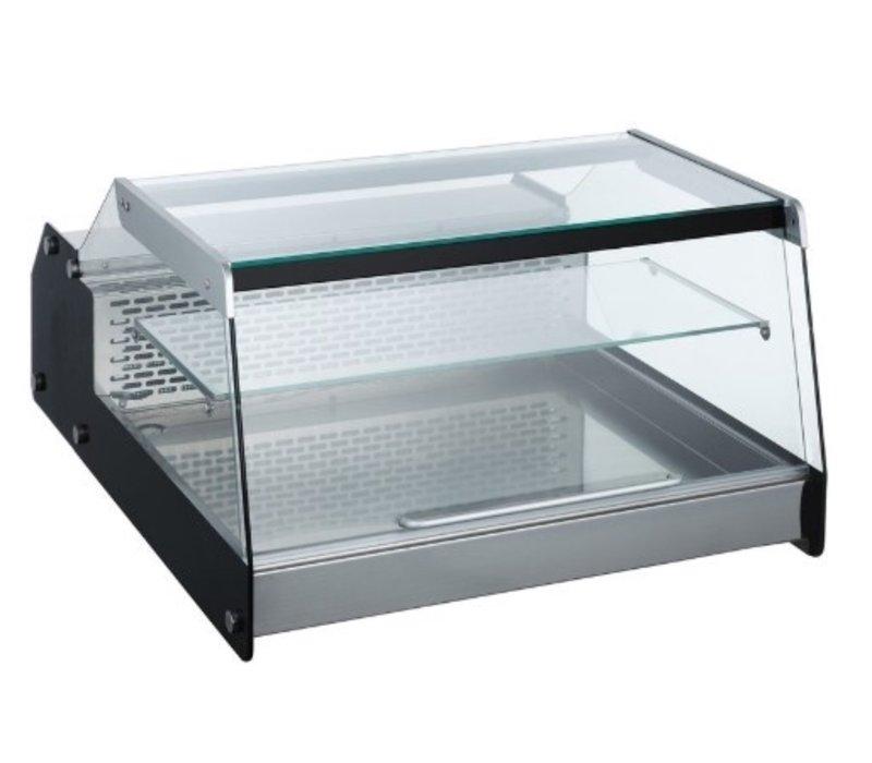 Combisteel Vitrine Réfrigérée  Modèle de Table   Noire   128 Litres   685x874x(H)419mm