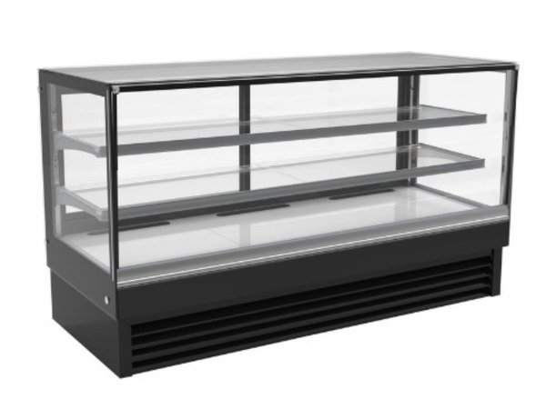 Combisteel Vitrine Réfrigérée | Noire | 436 Litres | 2000x680x(H)1200mm