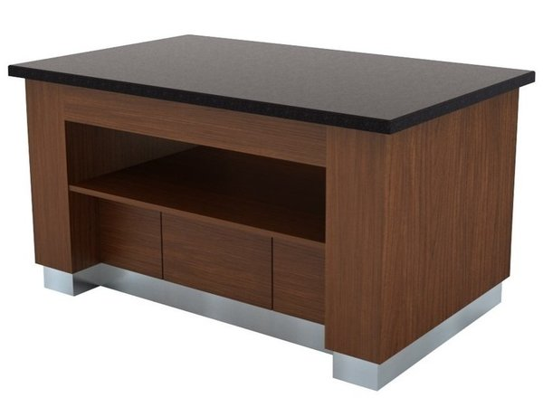 Combisteel Buffet Neutre | Wenge | 1600x1000x(H)900mm