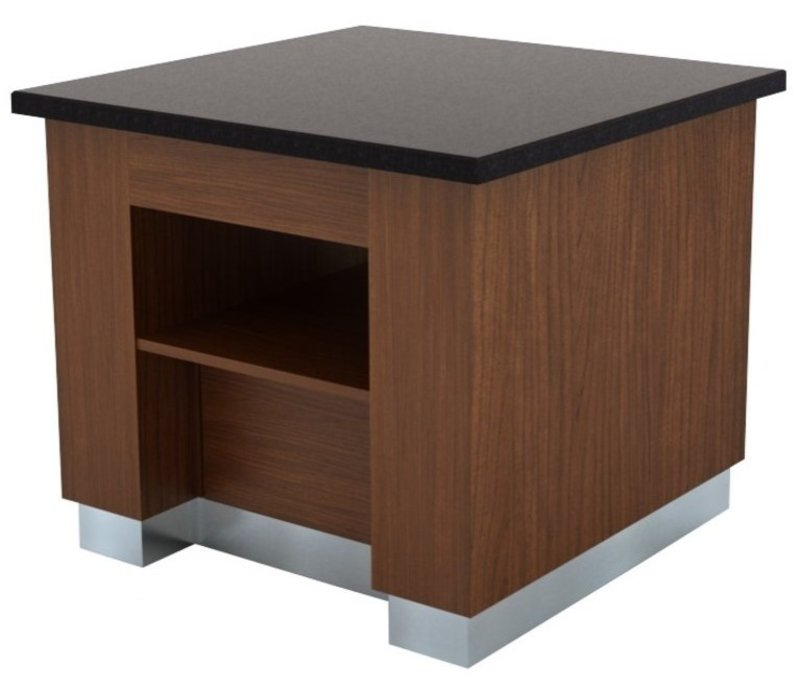Combisteel Buffet Neutre | Wenge | 1000x1000x(H)900mm