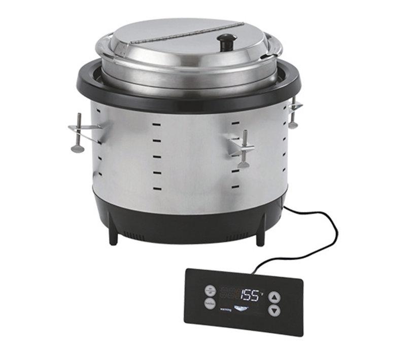 Pujadas Chauffe-soupe/Souffleur à Induction 10,4 Litre   4 Programmes   Bac en INOX   Ø353x(H)313mm