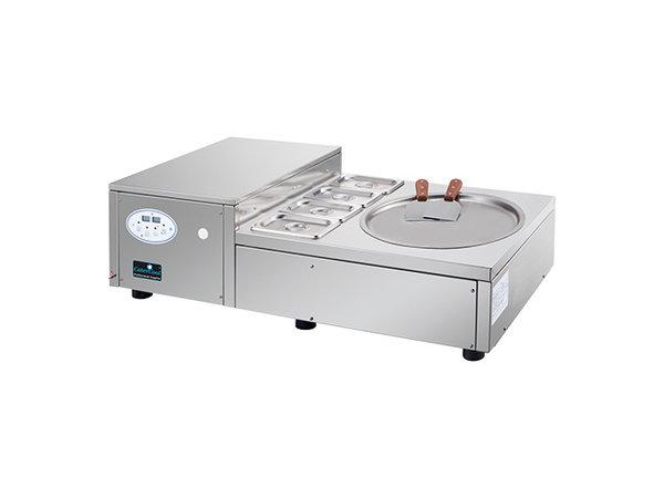 CaterCool Ice Steppanyaki Modèle de Table | Unité de Garnison 4x 1/9 GN | 480x1020x(H)320mm