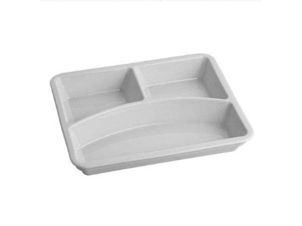 EMGA Assiette | Porcelaine | Rectangulaire | 35x230x175mm |  pour Dinner Box