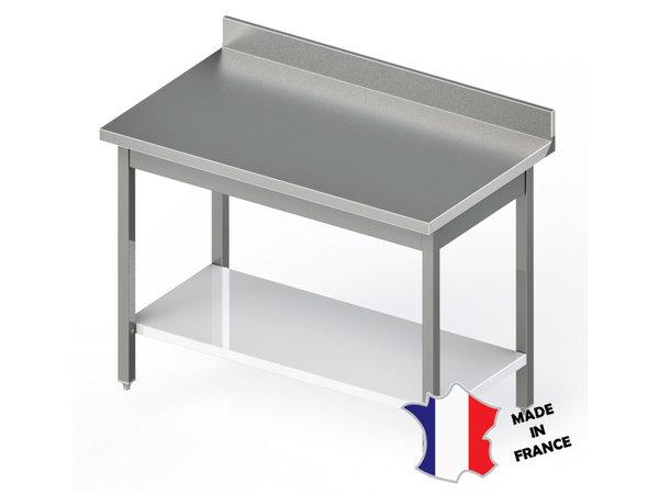 Sofinor Table Démotable | INOX | Étagère Basse | à Dosseret | Plusieurs Longueurs