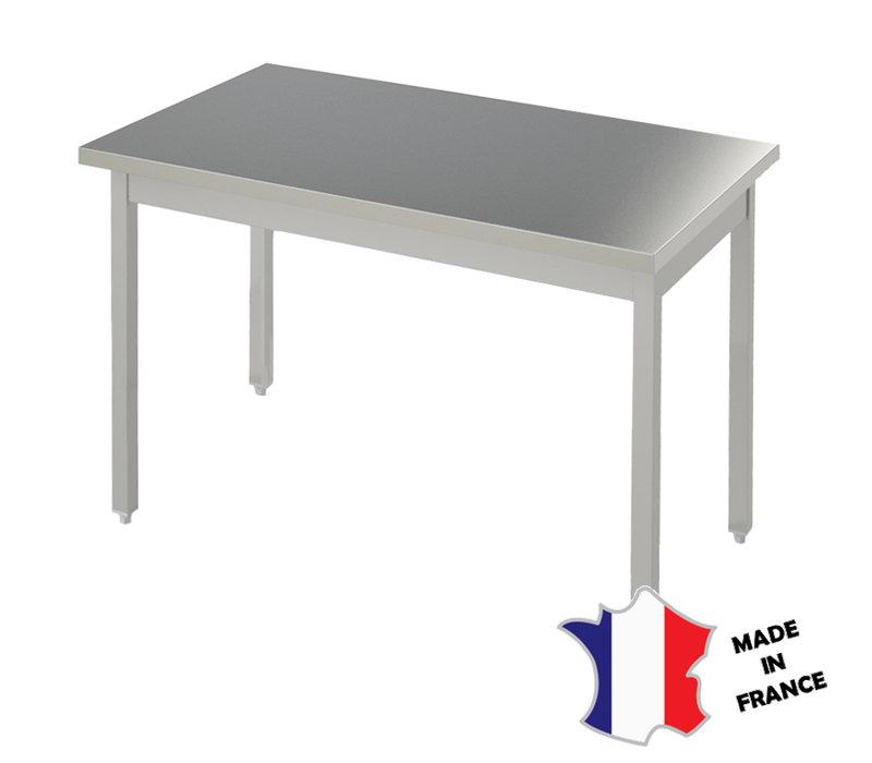 Sofinor Table Démotable | INOX | Centrale | Plusieurs Longueurs 700xHT900mm | Pieds Carrés