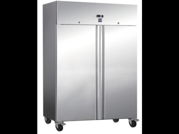 CHRselect Réfrigérateur | Portes Double | Inox | 1200 L | 2x 2/1 GN | 4 roues | 1340x800x (H) 2010mm