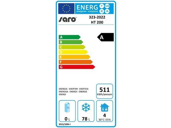 Saro Frigo Acier Blanc | 140 Litres | Statique | 600x580x850(h)mm