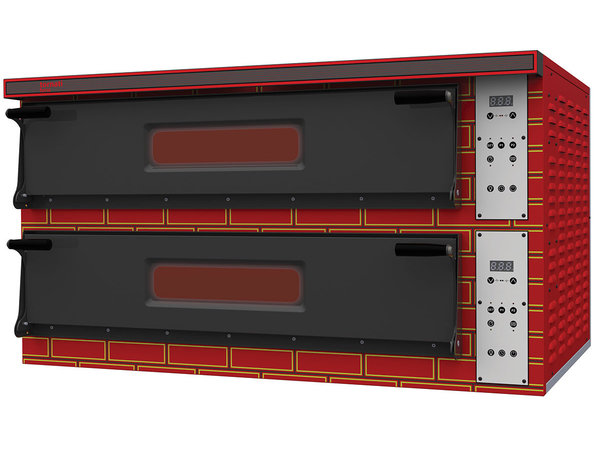 Tornati Forni Four à Pizza Digital Double | 2 x 6 Pizzas 36 cm | 18 kW | L 1360 x P 954 x H 745 mm