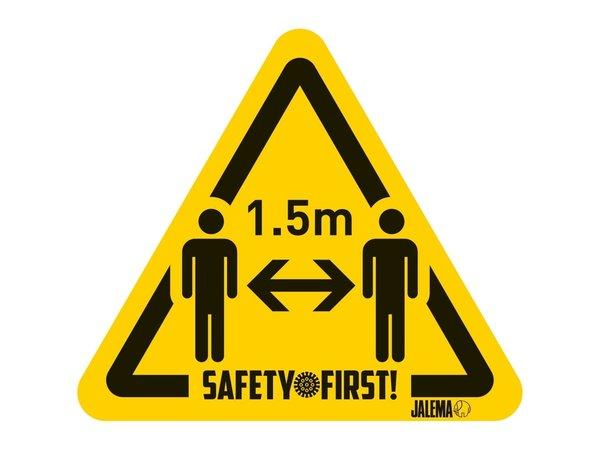 Tarifold Autocollant Distance Sanitaire de Sécurité 1,5m Sachet de 4| 150 *170 mm
