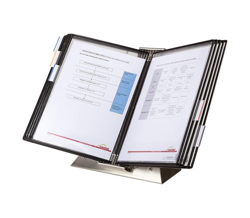 Tarifold Kit de bureau antimicrobien Sterifold en acier inoxydable, blanc