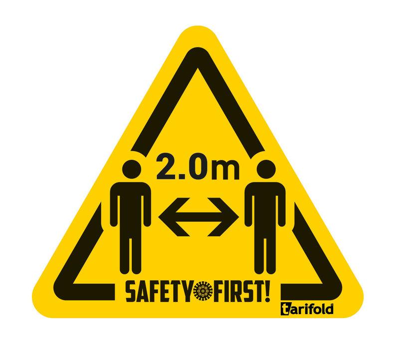 Tarifold Autocollant distance sanitaire de sécurité 2m Sachet de 4| 150 *170 mm