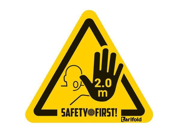 Tarifold Autocollant distance sanitaire de sécurité stop à 2m. Sachet de 4 | 150 *170 mm