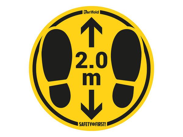 Tarifold Autocollant Distance Sanitaire de Sécurité « traces de pas » 2M | Sachet de 2