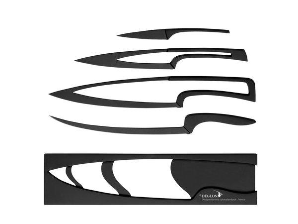 Deglon Meeting ® 4 Couteaux Téflonnés | Support Téflonné