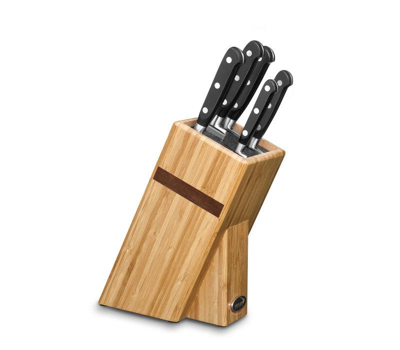 Deglon Bamboo Universal Block with Rods | Cuisine Idéal 5 Pièces