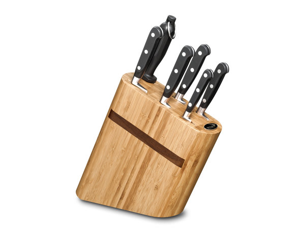 Deglon Bamboo Compact Block - Cuisine Idéal 6 Pièces