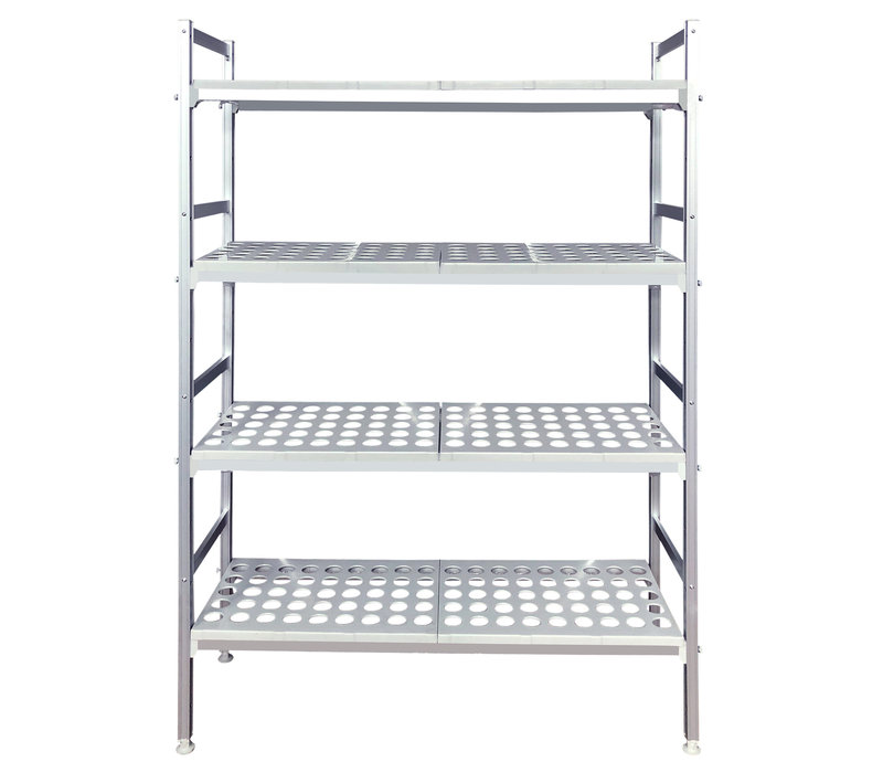 Cuistance Rayonnage Inox |  L 1260x P400x H1700 mm