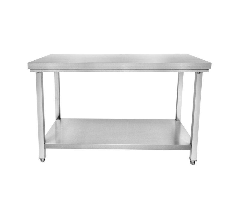 Cuistance Table de Travail Inox | Centrale | avec Étagère Basse | P600xH850 Plusieurs Longueurs