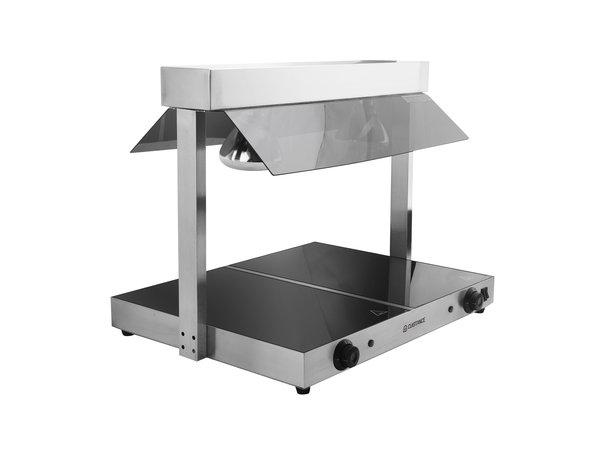 Cuistance Plaque Chauffante | 730x580x550mm | 1 kW | Temp reglable 30~85°C | Lampes infrarouges