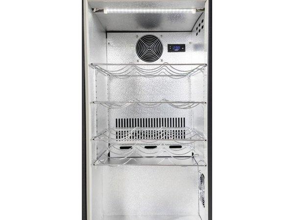 Husky Réfrigérateur Double| Noir | 160L | 2 Températures |Digital | L865xP495xH865mm