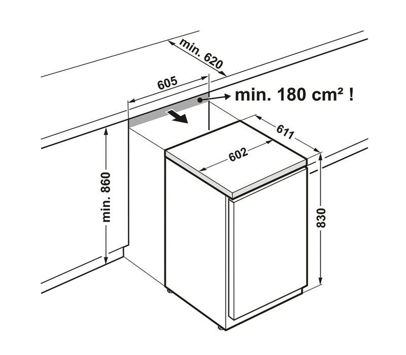 Liebherr Liebherr - Table Top Positif Porte Vitrée | Noir | 141L