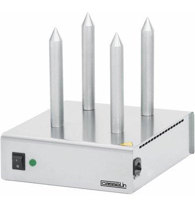 Casselin Chauffe-Pain Inox - 4 Plots - 260x300x(H)290mm