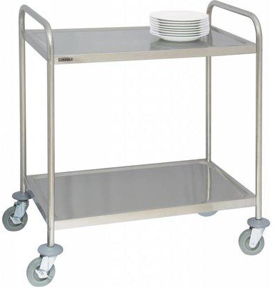 Casselin Chariot Inox 2 Plateaux - Capacité 120Kg - 920x600x945(h)mm