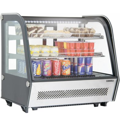 Casselin Vitrine Réfrigérée à Poser | 120 Litres | 160W | 710x575x685(h)mm