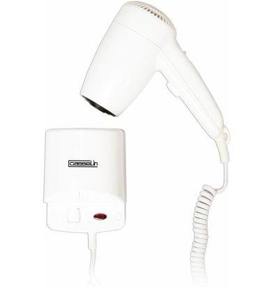 Casselin Sèche-Cheveux Mural - ABS Blanc - 2 Vitesses De Séchage - 1200W