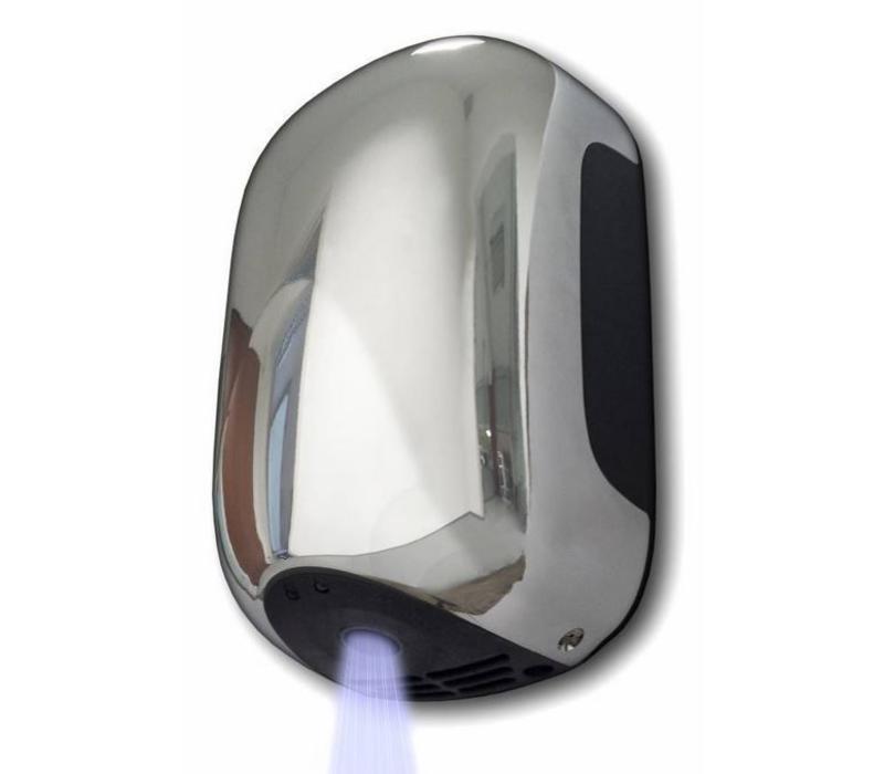 Vama Sèche-Mains MINI - Super Compact - Temps de Séchage 13 sec - Gris ou Chrome - 900W
