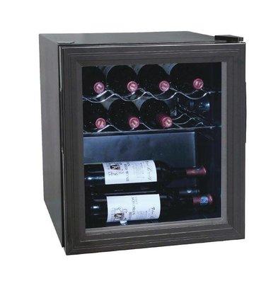 Polar Rafraîchisseur De Vin | Finition Noir | Capacité 11 Bouteilles | 510(h)mm